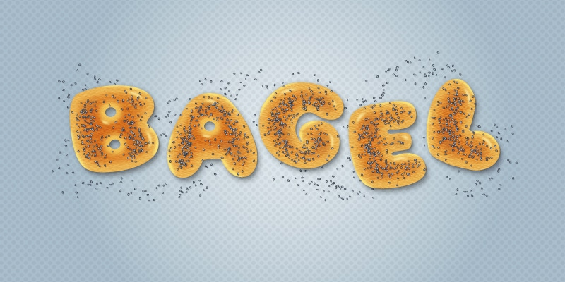 Tasty Bagel Text Effect