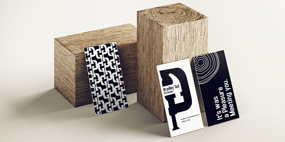 Vertical Business Cards Mockup