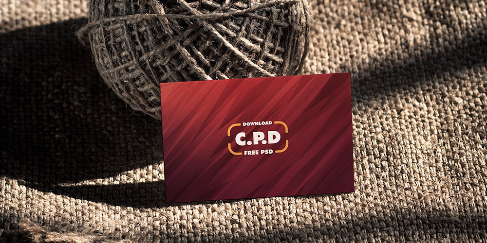 Vintage Front Side Business Card Mockup