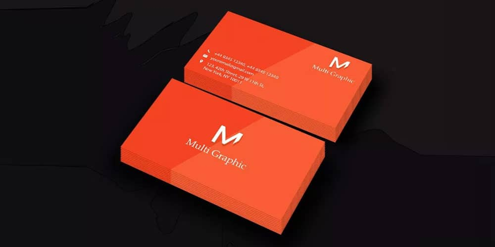 Visiting Card Mock Up PSD