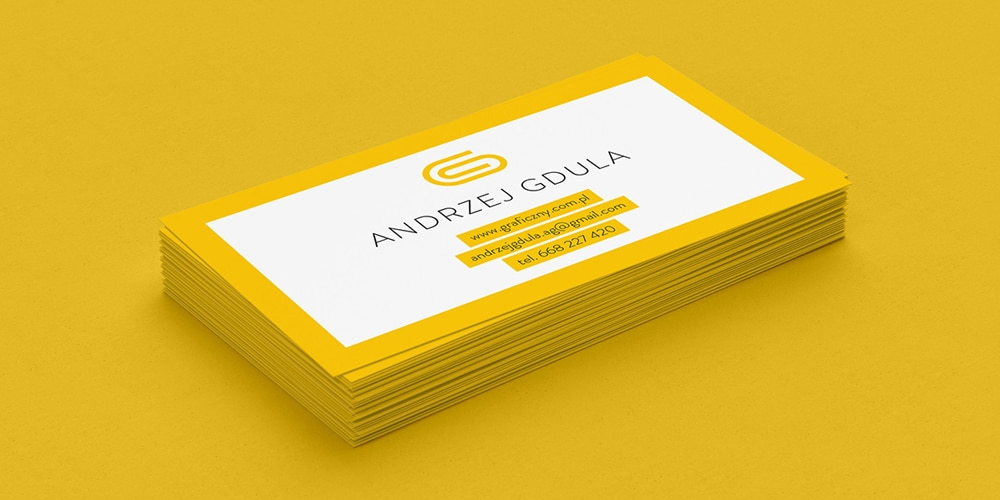 Business Cards Mockup with Bright Colors