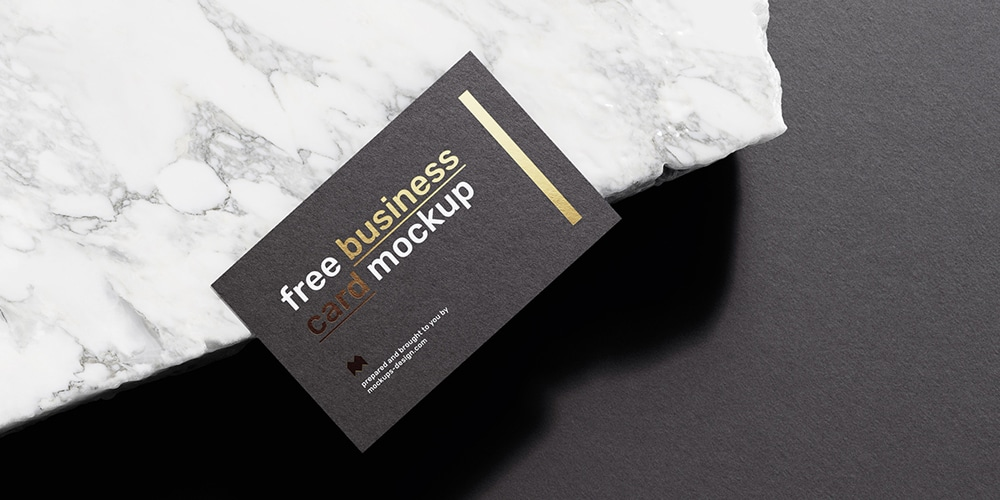 Business Cards Mockup with Foil Effect