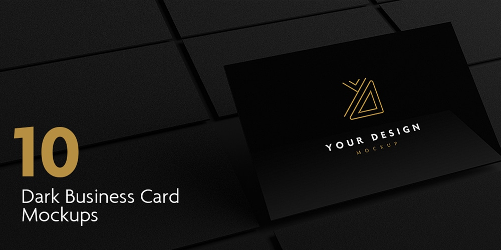 dark business card mockups