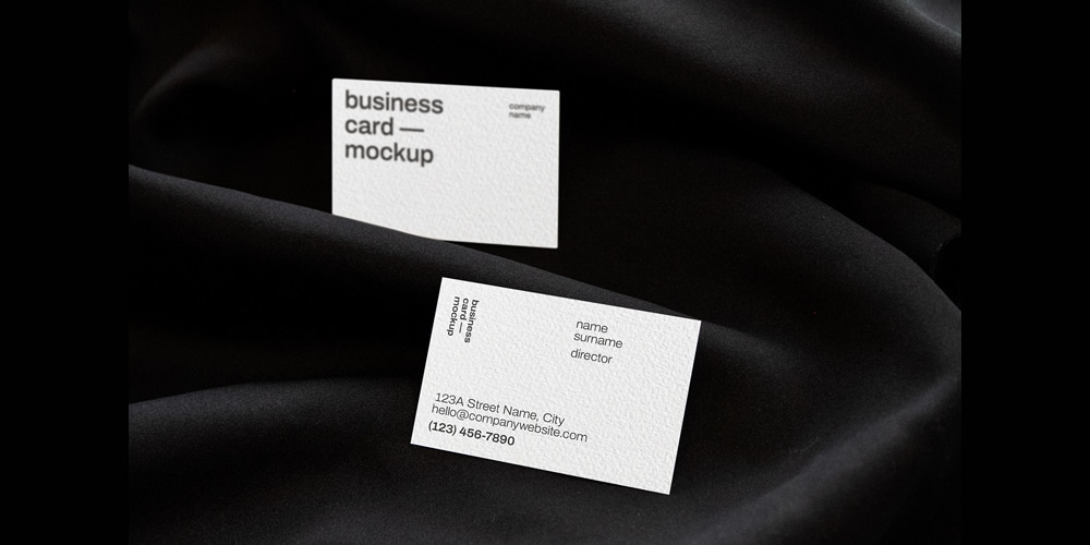 Minimal Style Business Card Mockup