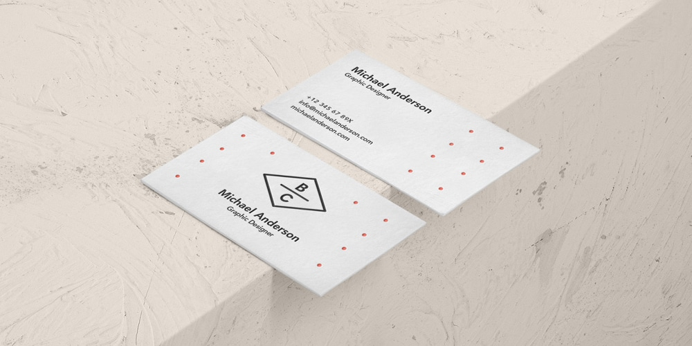 original business card mockup
