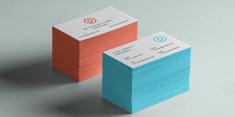 stack business card Branding mockup