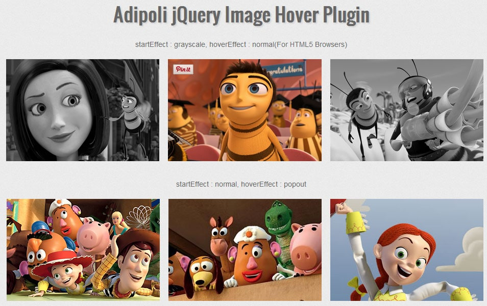 Adipoli jQuery Image Hover Plugin