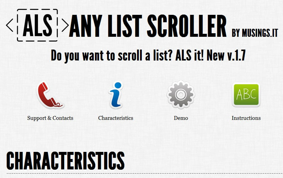 Any List Scroller