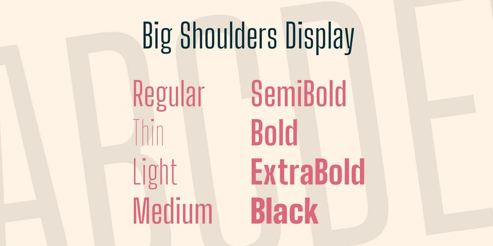 Big Shoulders Display Font