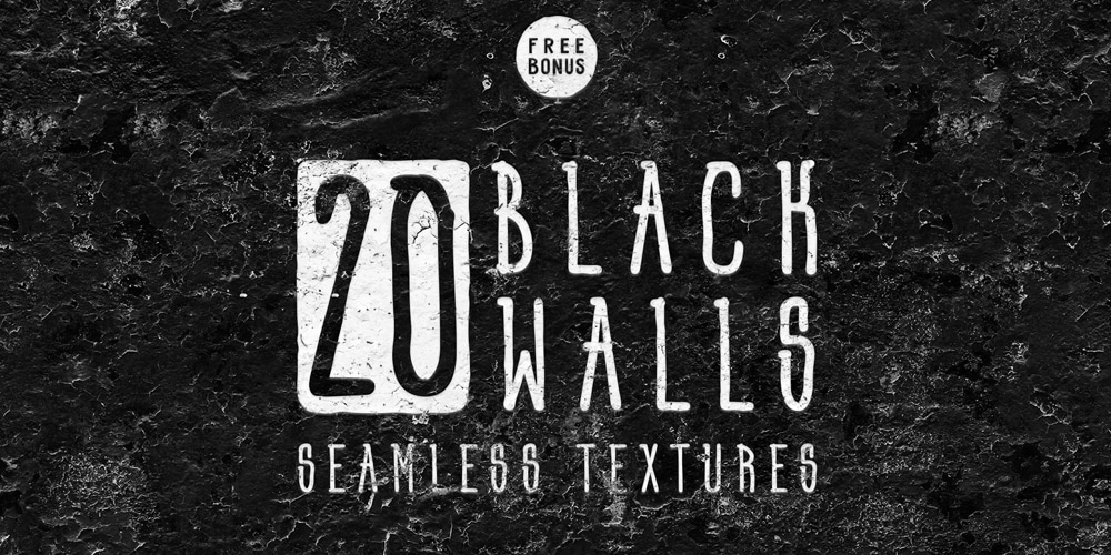 Black Walls Seamless Textures