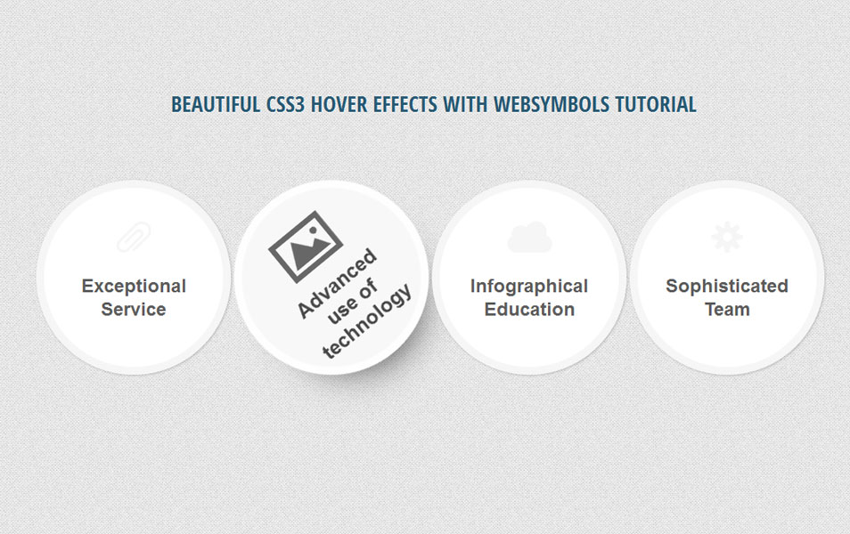 CSS3 Hover Effects with Websymbols Tutorial