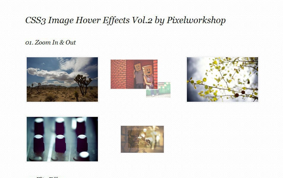 CSS3 Image Hover Effects Vol.2