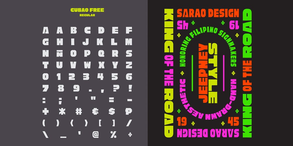 Cubao Free Display Typeface