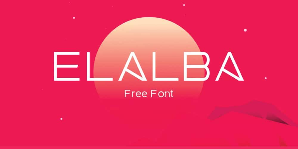 Elalba Display Font