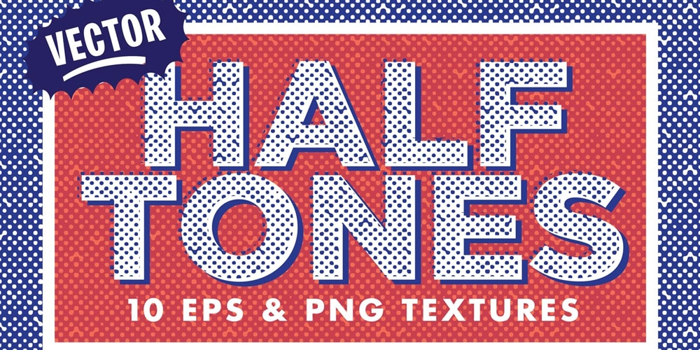Free Vector Halftone Textures