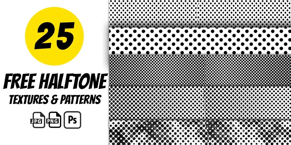 Halftone Textures and Patterns