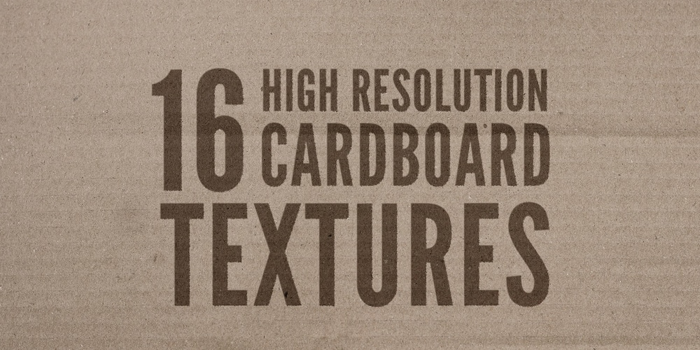 High Resolution Cardboard Textures
