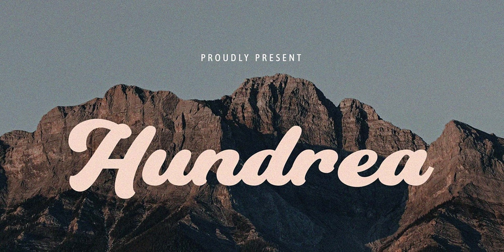 Hundrea Display Typeface