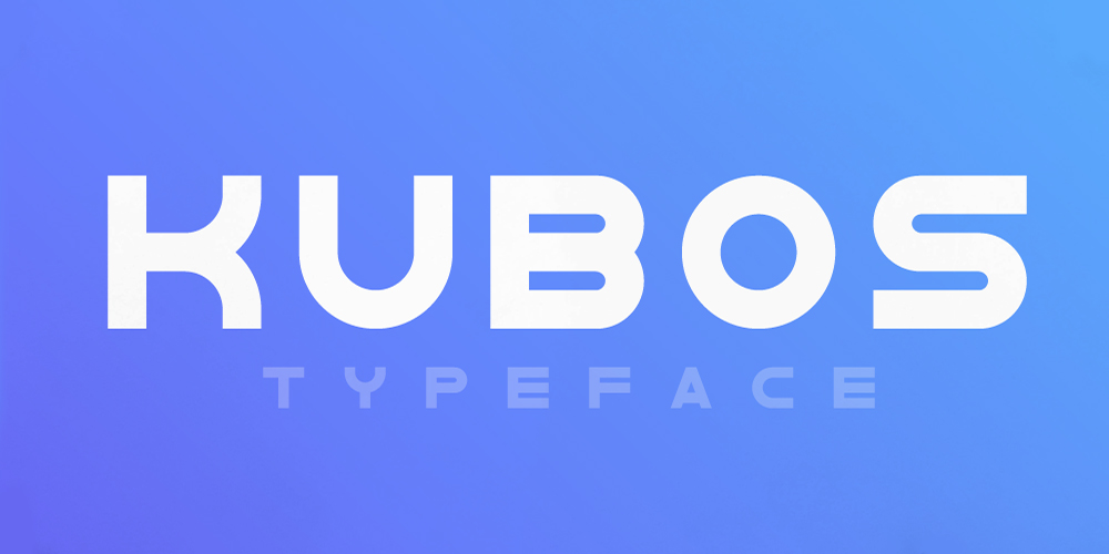 Kubos Geometric Display Typeface
