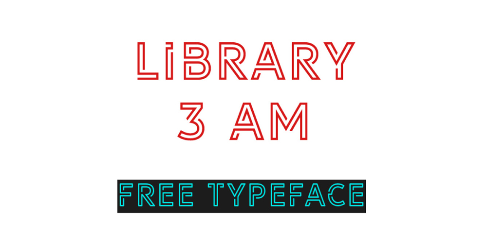 Library 3 AM Display Typeface
