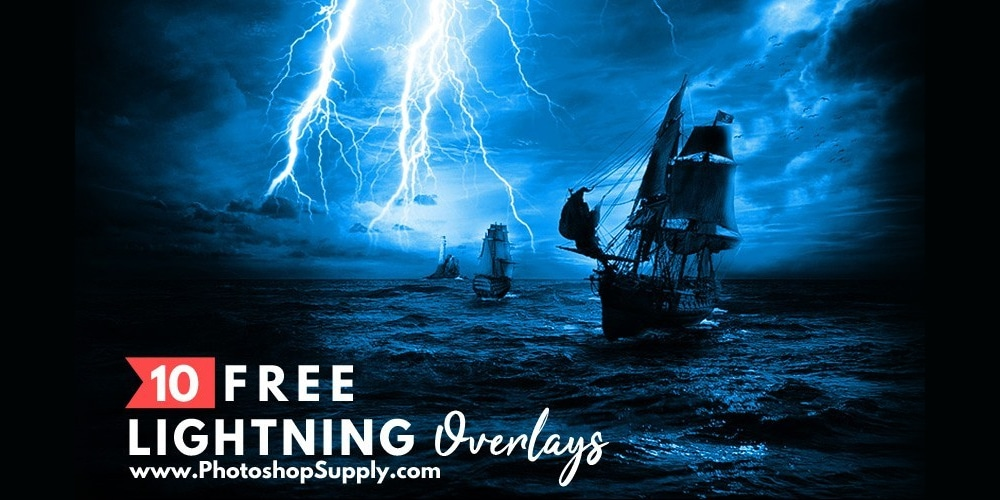 Lightning Overlays for Photoshop
