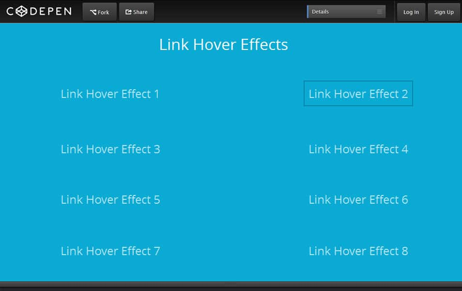 Link Hover Effects