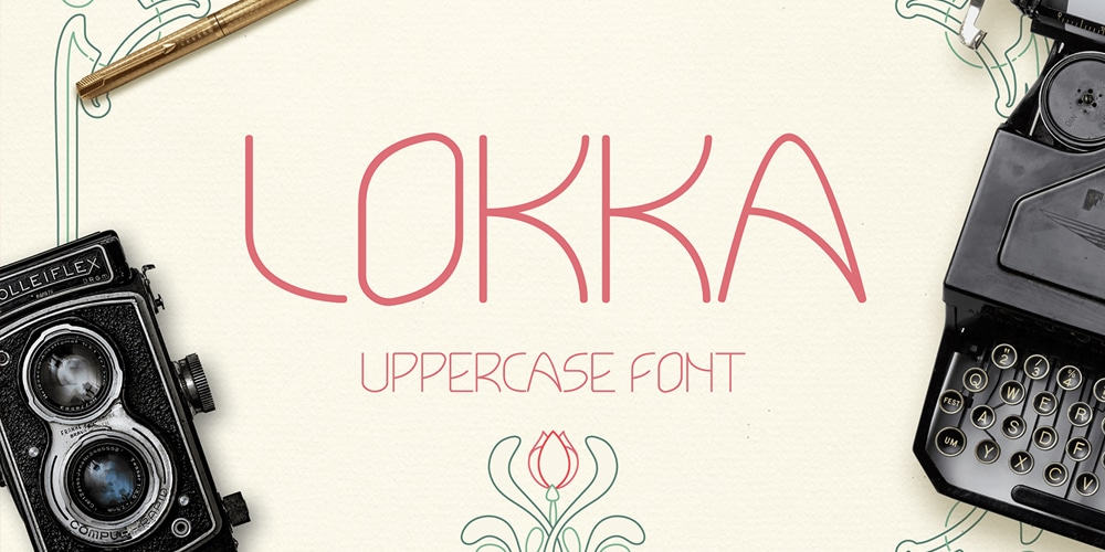 Lokka Geometric Display Typeface