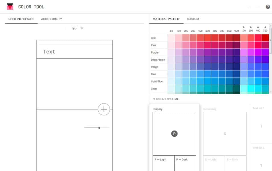 Material Design Color Tool