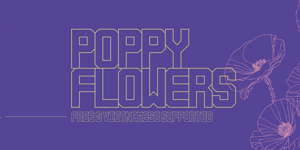 Poppy Flowers Display Font