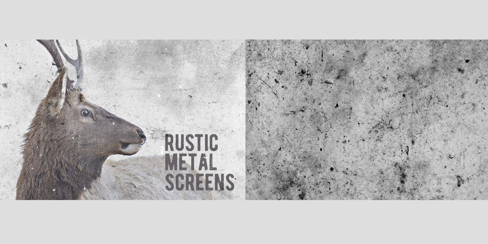 Rustic Metal Screen Textures