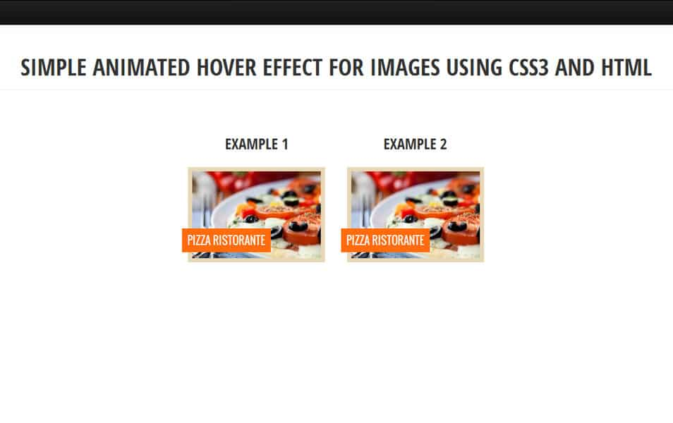 Simple animated hover effect for images using CSS3 and HTML