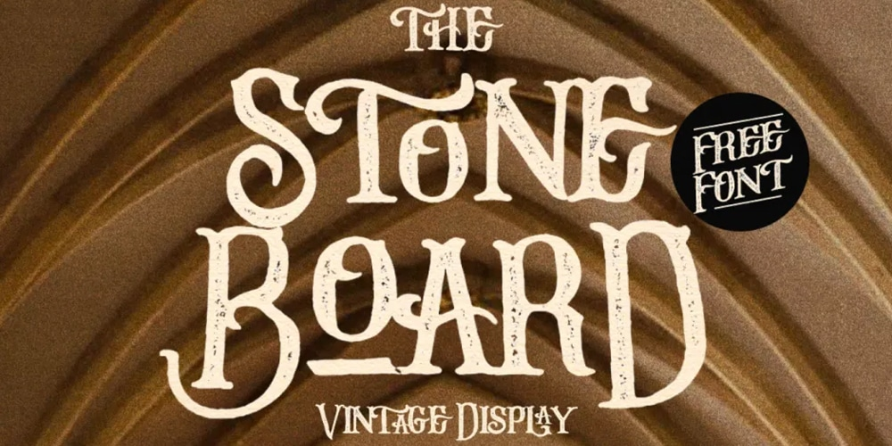 Stone Board Vintage Display Font