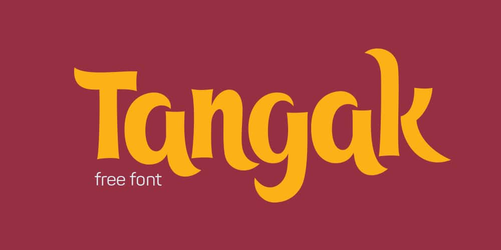 Tangak Display Font
