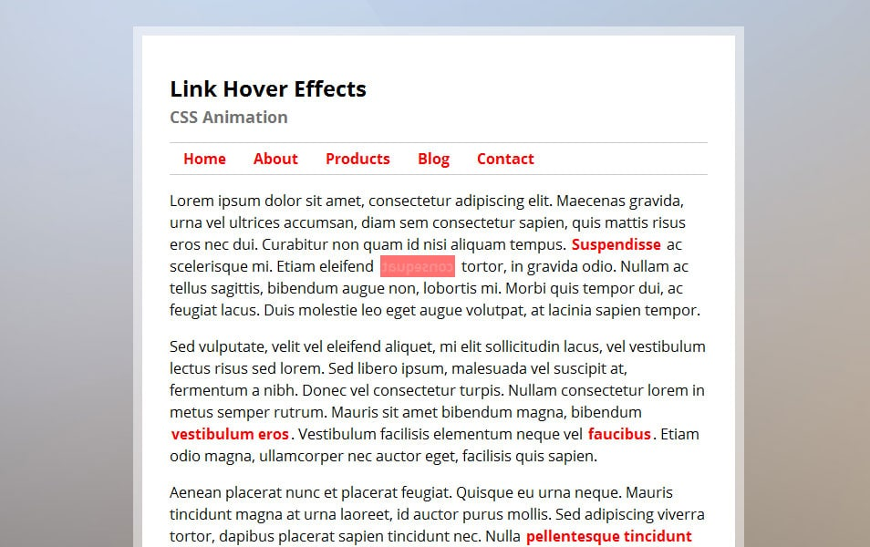 Text Hover Effects