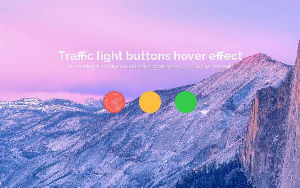 Traffic Light Buttons Hover Effect