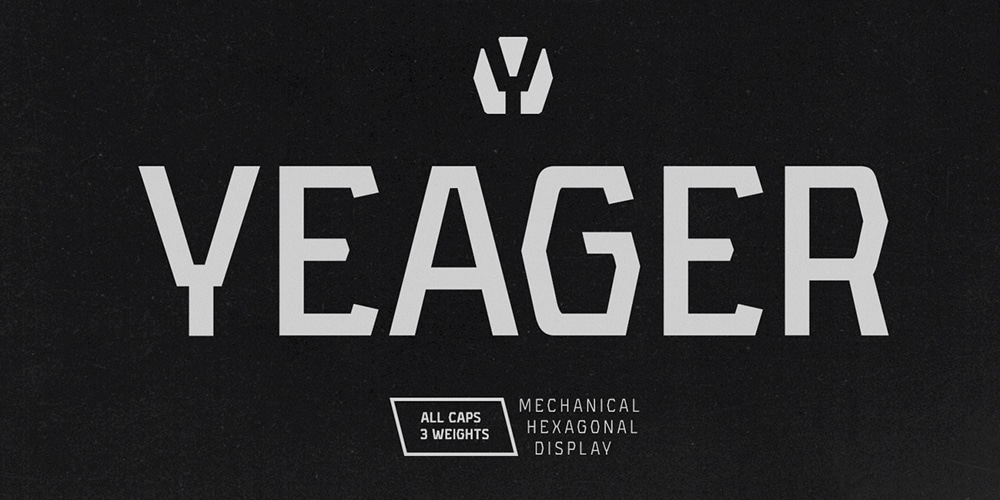 Yeager Display Typeface