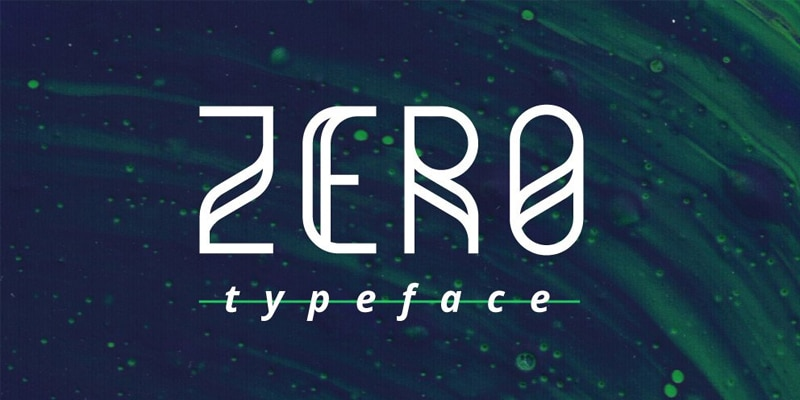 Zero Typeface
