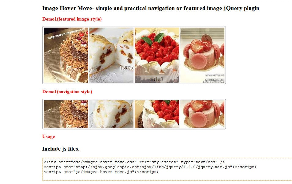 jQuery Image Hover Move
