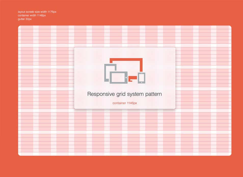 4 Responsive Grid System PSD