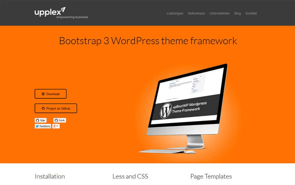 Bootstrap 3 WordPress theme framework