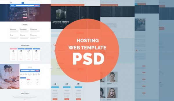 Free Hosting Web Template PSD