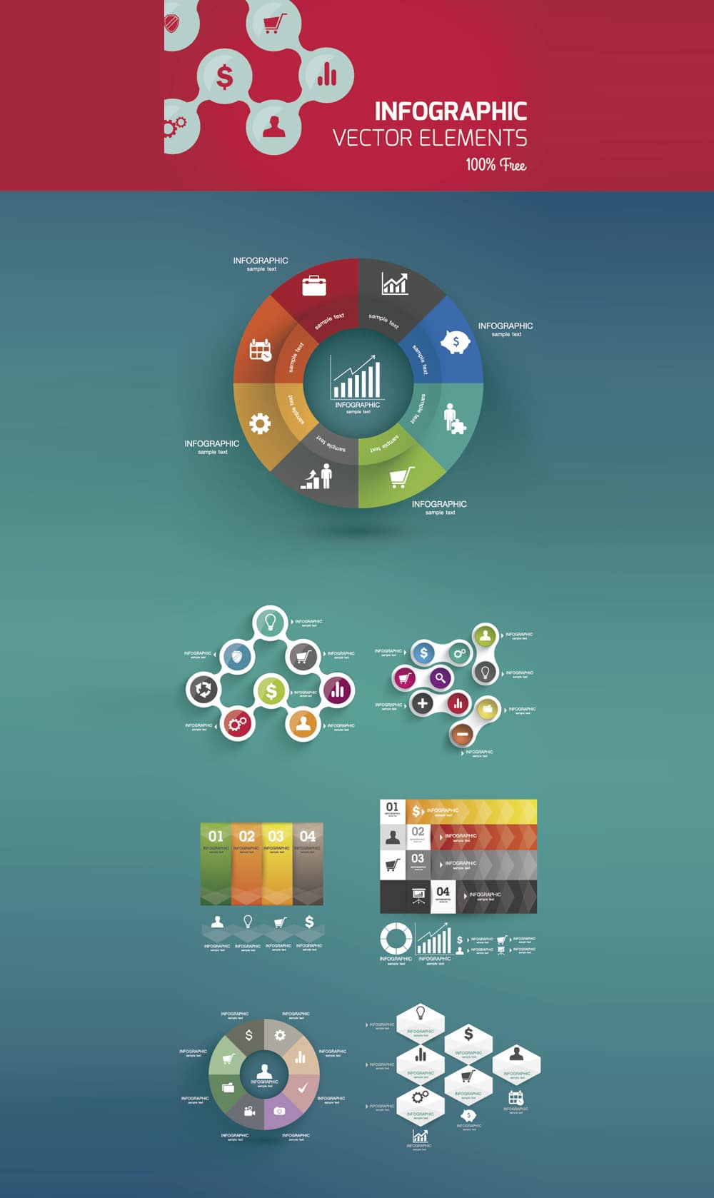 Infographics Ui Design Et Web Design: 25 Best Free Infographic Elements » CSS Author