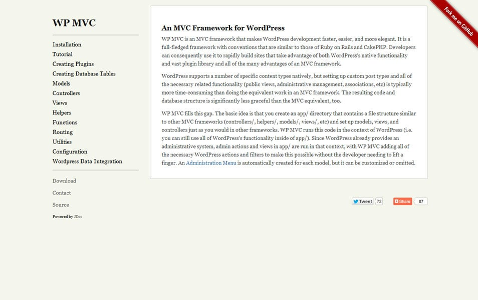 MVC Framework for WordPress
