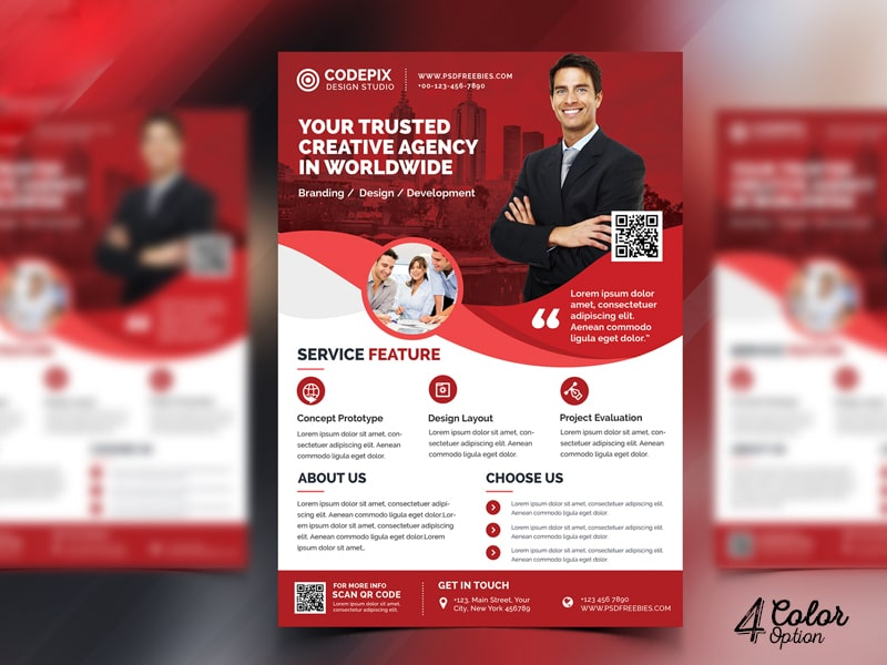 Modern Corporate Flyer PSD