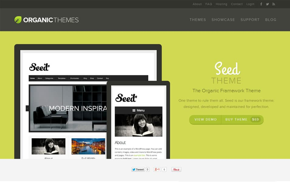 Seed - The Organic Framework Theme