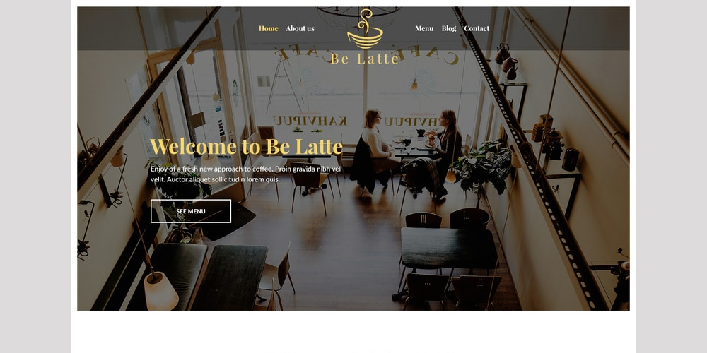 Be Latte Coffee Shop Template PSD