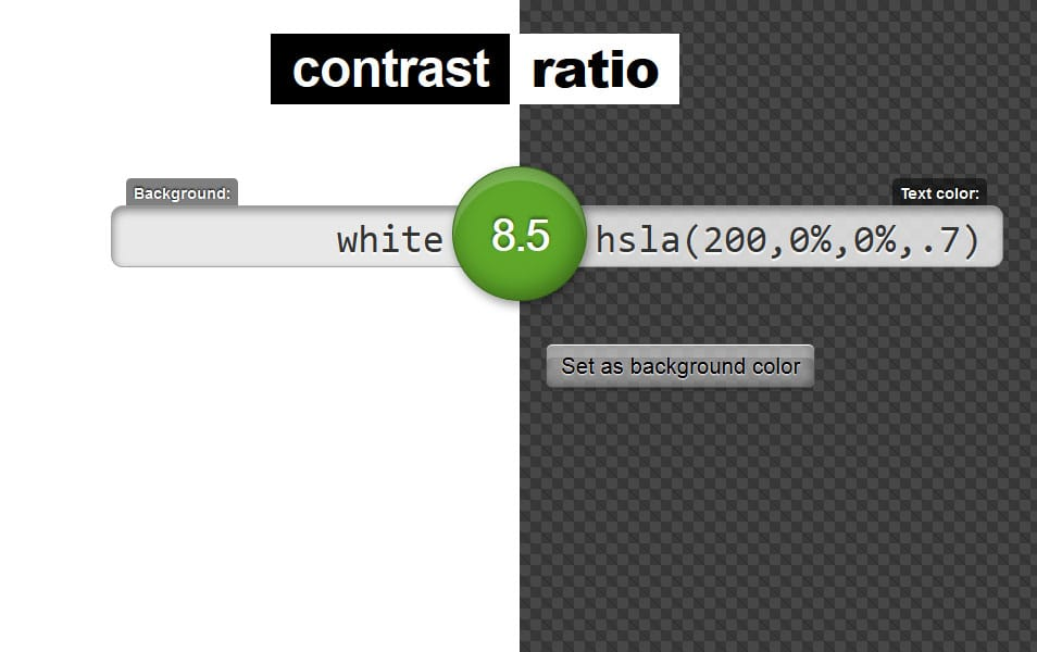 Contrast Ratio