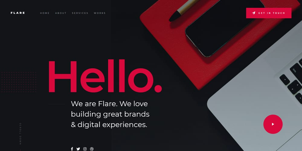 Flare Free Landing Page Website Template