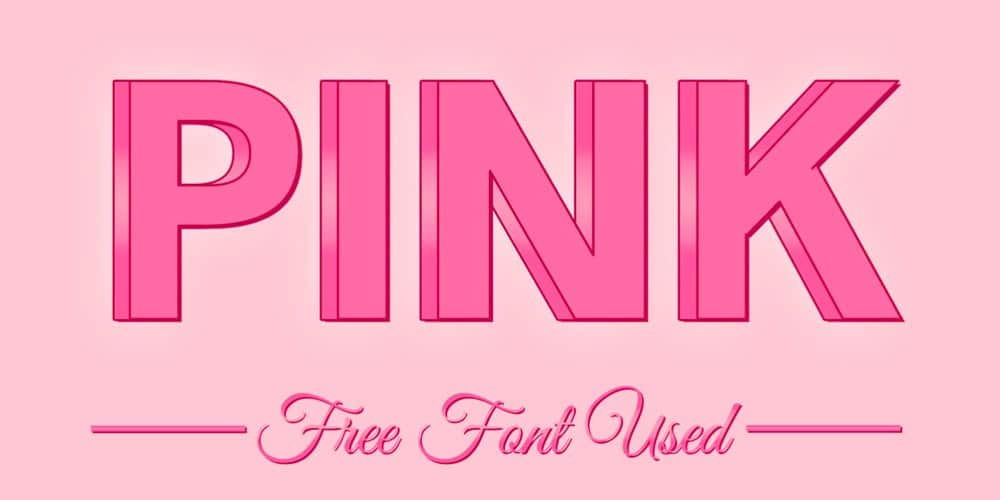 Free 3D Pink Femenine Text Effect PSD