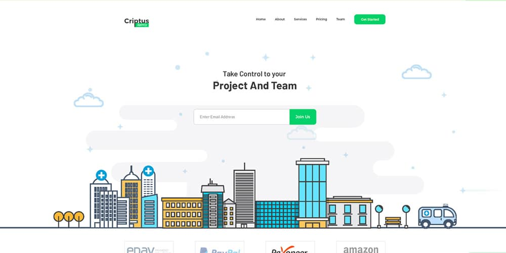 Free Agency Landing Page PSD